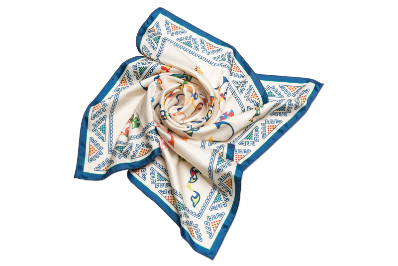 "Silk scarf ""Armenian medieval ornamental letters"""