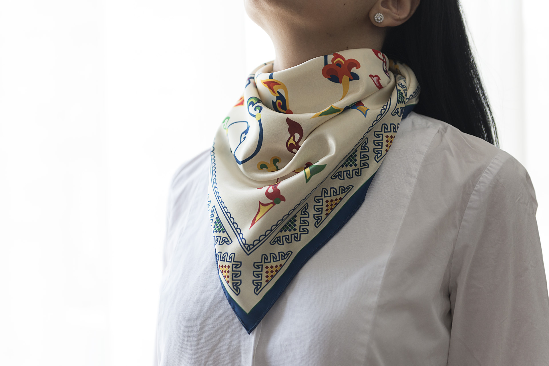 "Neck Scarf ""Armenian Medieval Ornamental Letters"" - img. 2"