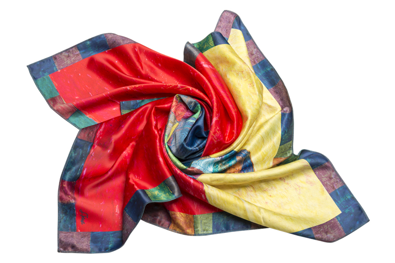 "Silk scarf ""In memory of Minas"""