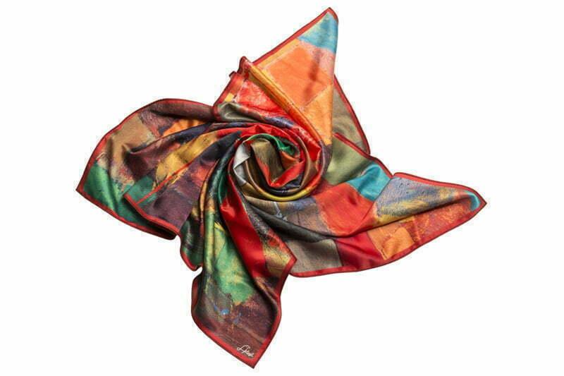 """Silk scarf """"Mayissyan village"""""""