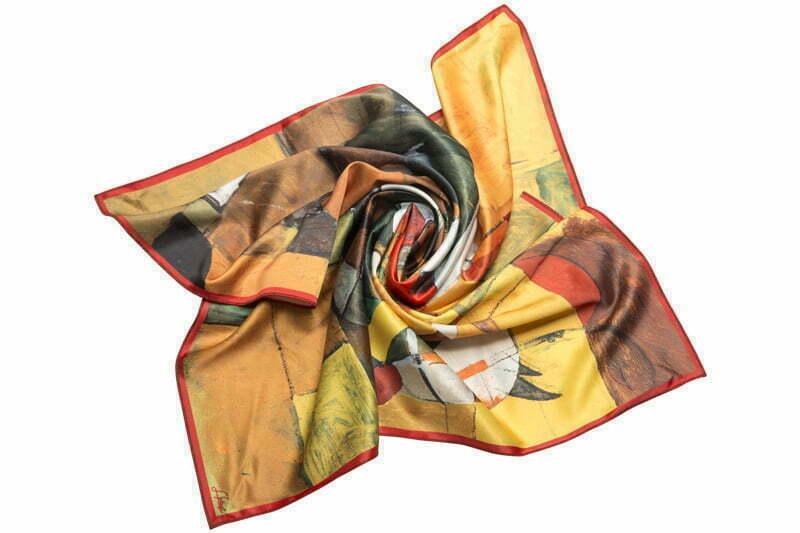 "Silk scarf ""In the saddle"""