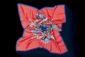 "Silk scarf ""Cross-Reliquary"""