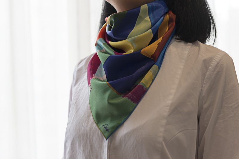 "Neck Scarf ""Still Life in Landscape"" - img. 2"