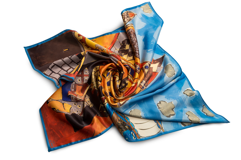 "Square neck scarf ""Tale Motif"""