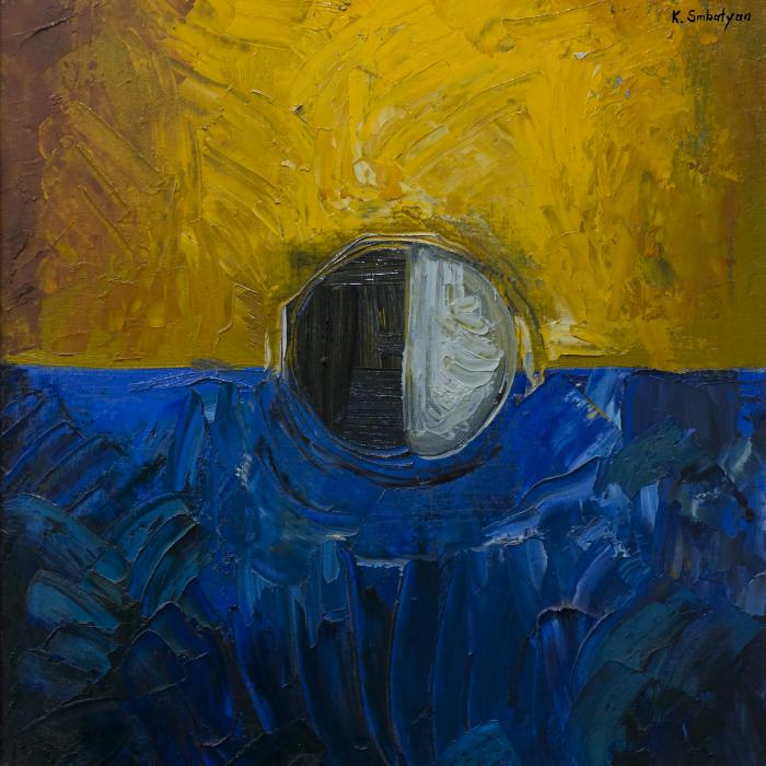 Շարֆ «Կապույտի և դեղինի կոմպոզիցիա»-նկ. 4