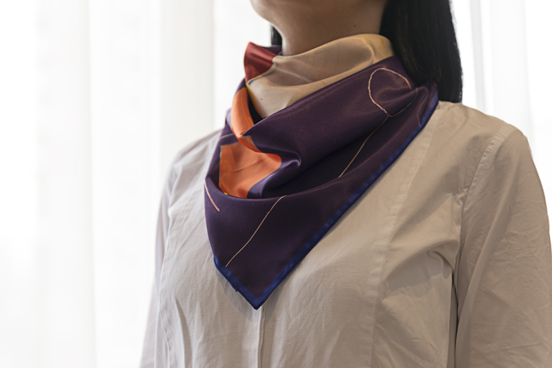 """Square neck scarf """"King the Great"""" - img. 2"""