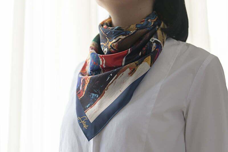 "Square neck scarf ""Narekatsi"" - img. 2"