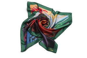 "Square neck scarf ""Ox"""