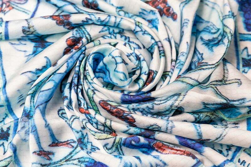 """Silk scarf """"Tray"""""""