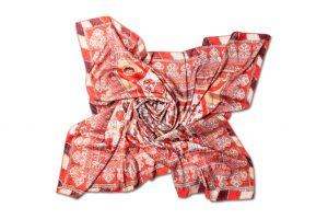 "Silk scarf ""Curtain"""