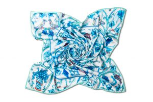 "Silk scarf ""Tray"""