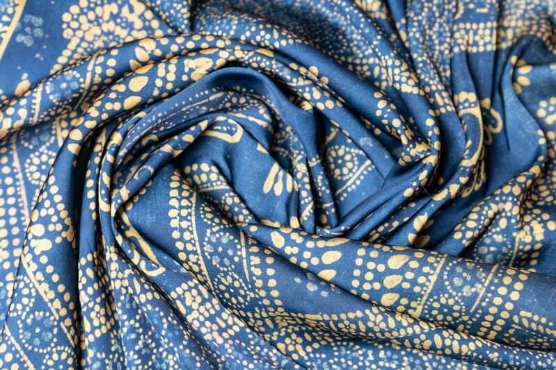 "Silk scarf ""A fragment of a curtain"""