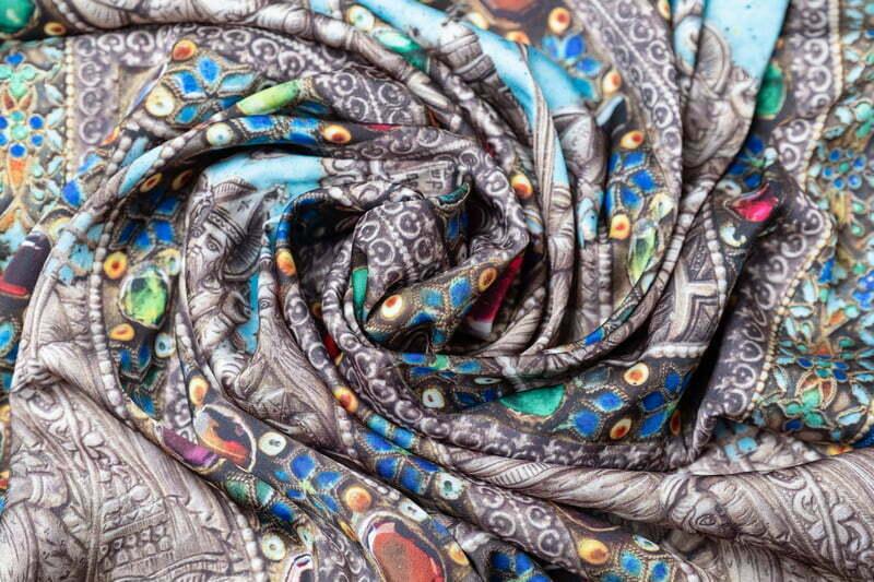 "Silk scarf ""Parzatumar"""