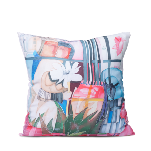 "Square art pillow ""I am a flower"""