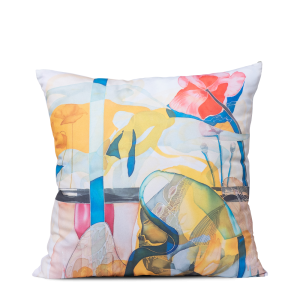 "Square art pillow ""Around the cross"""