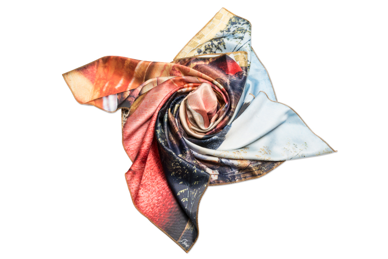 "Neck Scarf ""Variation with Shell on Themes by Pinturicchio and Raphael"""