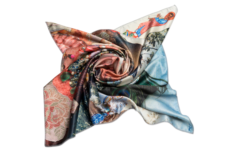 """Scarf """"Variation Themes by Pinturicchio and Raphael"""""""