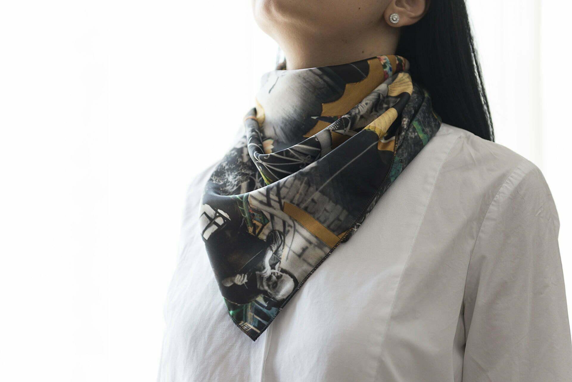 """Silk scarf """"I sold my dacha""""- img. 2"""