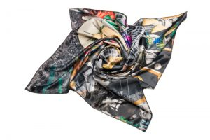 "Silk scarf ""I sold my dacha"""