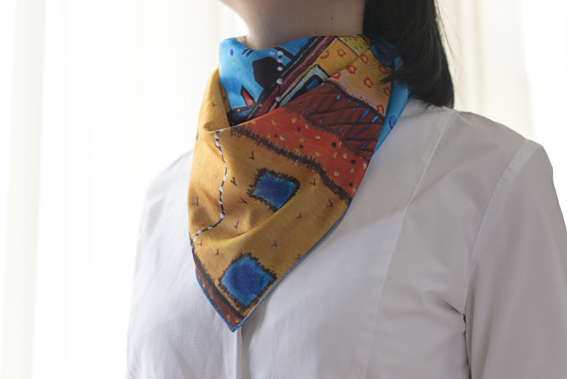 "Neck Scarf ""Dreamers Flight"" - img. 4"