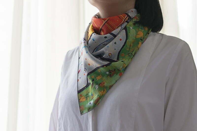 "Square neck scarf ""Garden"" - img. 4"