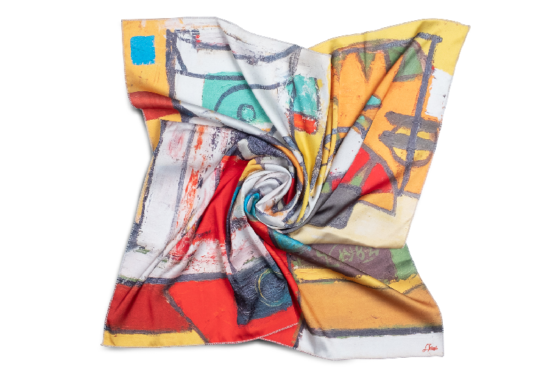 "Womens neck scarf ""Meditations #22"""