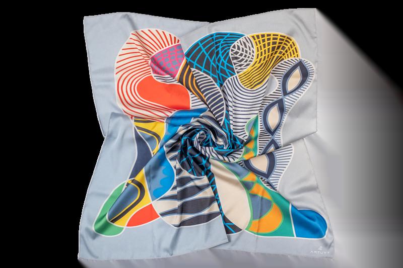 "ladies neck scarf ""Composition #4"""