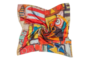 "Silk Scarf ""Don Quixote"""