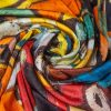 "Silk scarf ""Don Quixote #2"" - img. 2"