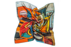 "Silk Scarf ""Don Quixote #2"""
