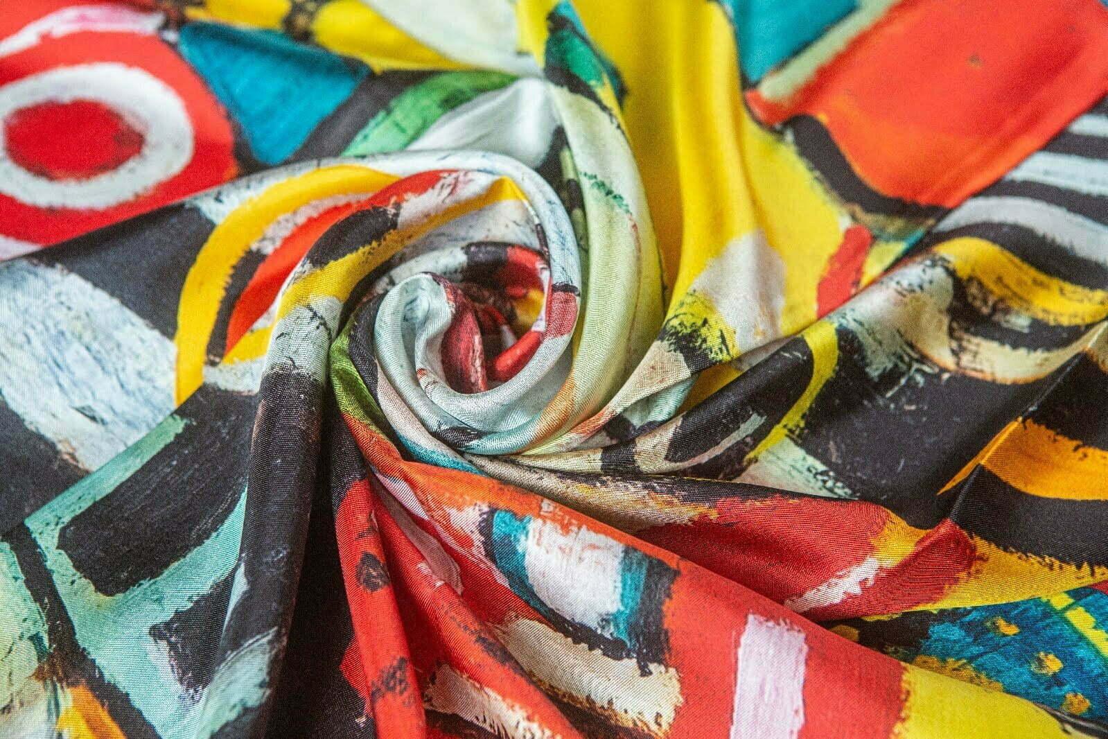 "Silk scarf ""in your dream"" 2"
