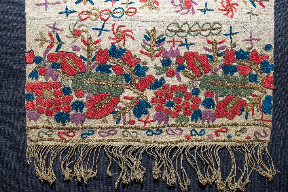 Towel fragment, Armenian embroidery, Trabzon, 19th century